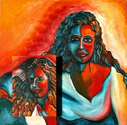DX2-DIPTYCH (30X30) OIL on CANVAS