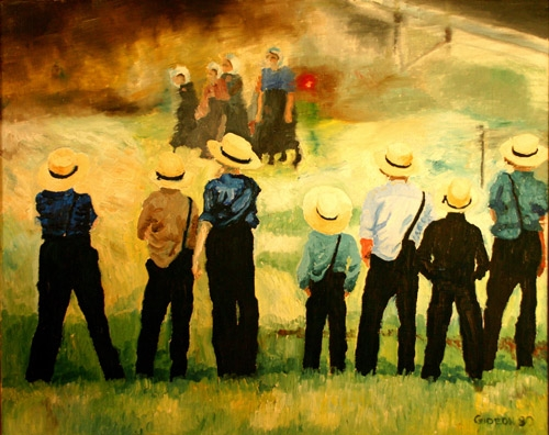 AMISH BOYS & GIRLS (N/A) OIL on CANVAS
