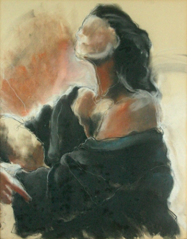 SITTED WOMAN (N/A) PASTEL on PAPER