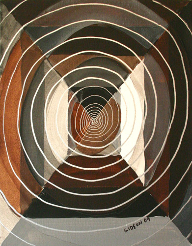 VERTIGO (14 X 11) ACRYLIC & PEN on CANVAS