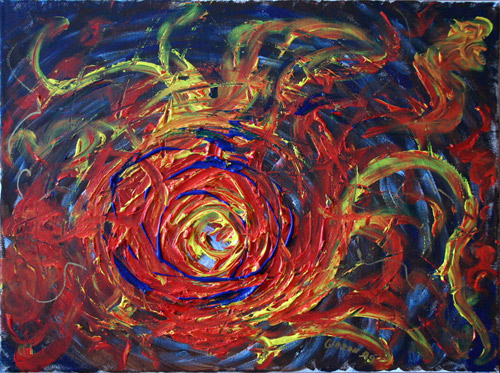 HALLOWEEN 2009 NEBULA (18 X 24) ACRYLIC on CANVAS