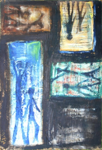IMAGES (27X18.5) OIL on PAPERBOARD